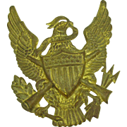 Vintage Large Army insignia for plaque or something