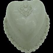 Dennison White Heart early plastic ring box