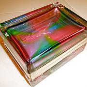 Murano Glass Box in Rare Rainbow Coloration