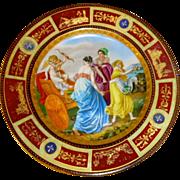 Antique Royal Vienna Cabinet Plate,Cherub, Maidens