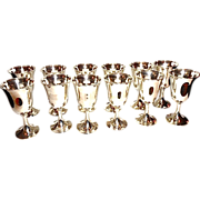 SALE 12  Wallace Sterling Silver goblets.