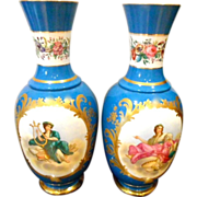 SALE Antique Old Paris Porcelain Vases