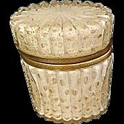 Murano Cased Glass box w/controlled bubbles