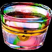 Murano multicolored rainbow glass box