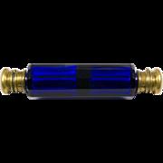 Victorian Cobalt Glass Double Perfume Bottle