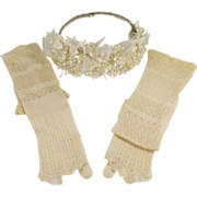 French Silk Wedding Gloves