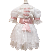 """SALE Organdy Couture Dress for Antique French Jumeau 19"""" Doll"""