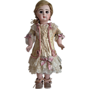 """SALE Silk Tapestry Dress for 19"""" Antique French Jumeau Doll"""
