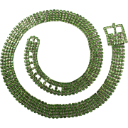 Light Green Rhinestone Ladies Jeweled Belt