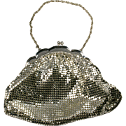 Vintage Whiting and Davis Silver Mesh Evening Bag