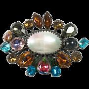 Opulent Schreiner Unsigned Brooch Pin