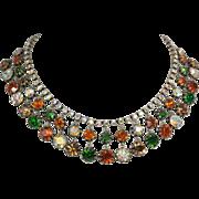 Vendome Multi-Colored Rhinestone Necklace