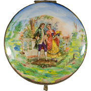 Gorgeous Hand Painted Mirrored German Porcelain Box