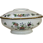 Royal Staffordshire Singapore Soup Tureen w Ladle Hole in Lid Asian Florals English