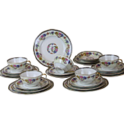 Haviland Limoges Cheverny Salad Bread Plates Tea Cups Saucers Lot 23 Pce Floral Dessert Table