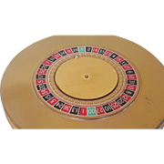 SALE Vintage Majestic Roulette Wheel Compact Novelty Book Item for collector figural