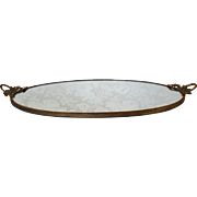 SALE Vintage Gold  Vanity Tray Mirror for perfume bottles