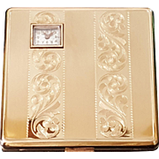 SALE Authentic Lady Windsor Watch Compact w/ Org. Box & sleeve made by Illinois Watch Case ...