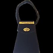 Vintage 1940's Combo Compact / Vanity Purse Black Velvet Evening Bag