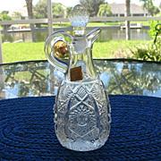 Cruet Imperial Glass Octagon aka Bellaire 1912