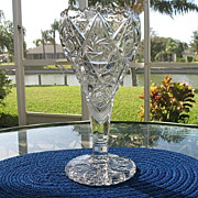 Vase 12 in. Imperial Ornate Pressed Glass  Early 1900s 1 of 2