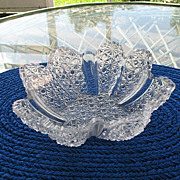Bowl  Star Shape 8.5 in. Daisy Button with Clear Panels