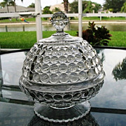SOLD Antique Thousand Eye 1879 Butter Dish Richards & Hartley