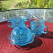 Gala Pattern Light Blue Toy Table Set 1913 Bryce Higbee