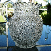 SALE Daisy Button Water Pitcher #2 Bryce Bros.  1886