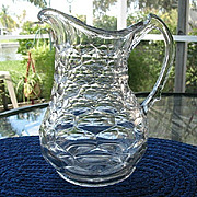Antique Honeycomb Water Pitcher Marked 1865 Patent