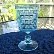 Blue Goblet 6.25 in. Two Panel Daisy in Square