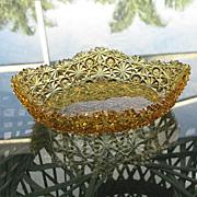 Daisy Button Medium Amber Oval Sauce Bowl