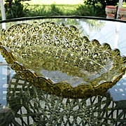 SALE Daisy Button 11 in. Old Gold Bath Tub Shape Bowl Hobbs