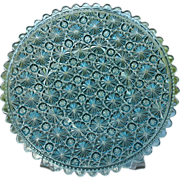 Daisy Button Blue 10 in. Round Plate 1885 Clio Pattern