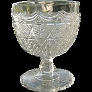 Antique 1885 Leverne aka Star in Honeycomb EAPG Buttermilk Goblet