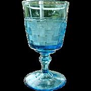 Basket Weave Goblet 1 of 2 1880s
