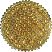 Daisy Button Amber 10 in. Round Plate 1885 Clio Pattern