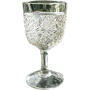 SOLD Daisy Button 6.25 in. EAPG Clear Band Water Goblet #2
