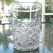 Daisy Button 6 Clear EAPG 4. in. Tumblers