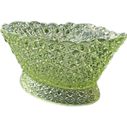 SOLD Canary Daisy Button 12 in. Oval Bowl Bryce