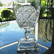 Ashman 6.5 in. Goblet #3 1880 Adams & Co. No. 120