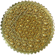 Daisy Button Amber 10 in. Round Plate #2 Clio Pattern