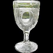 Water Goblet #3 Beaded Oval Window aka Argyle 1885