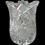 Antique American Brilliant Cut Spoon Holder Vase
