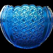 SOLD Cobalt Blue Fenton Olde Virginia Rose Bowl Vase