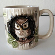 SALE Mugs 6 Otagiri 1979  Owl in Hollow Tree  Made in Japan