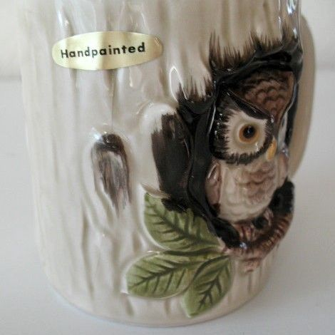 Mugs 6 Otagiri 1979 Owl In Hollow Tree Made In Japan From