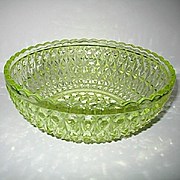 Canary Bowl Central Glass Pressed Diamond aka Zephyr 1885