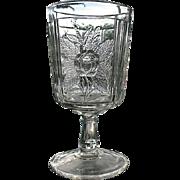 Clear Rose Sprig Water Goblet Campbell Jones