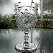 Frosted Stork EAPG Goblet 5.5 in.